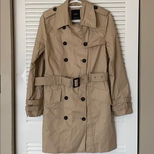 NWOT MANGO Double Breasted Trench Coat